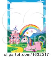 Fairy Tale Castle And Unicorn Border by visekart