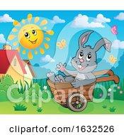 Bunny Rabbit In A Wheelbarrow