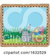 Easter Bunny Rabbit Border