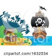 Pirate Ship And Treasure Island