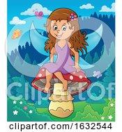 Fairy Sitting On A Mushroom