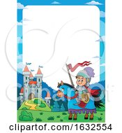 Poster, Art Print Of Knight And Castle Border