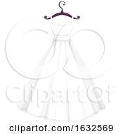 Poster, Art Print Of White Wedding Dress On A Hanger