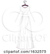 White Wedding Dress On A Hanger