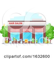 Hair Salon Building Storefront by Vector Tradition SM