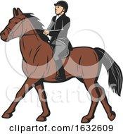 Poster, Art Print Of Horseback Equestrian