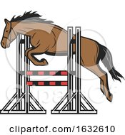Poster, Art Print Of Jumping Horse