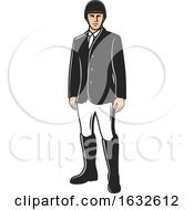 Poster, Art Print Of Male Equestrian