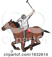 Poster, Art Print Of Horseback Polo Player