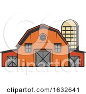 Retro Barn And Silo by Vector Tradition SM