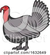 Retro Turkey Bird