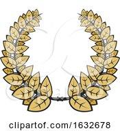 Poster, Art Print Of Leafy Wreath