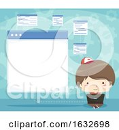 Kid Boy Programming Forms Illustration