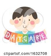 Kid Hold Daycare Illustration
