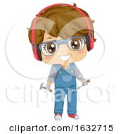 Kid Boy Woodwork Illustration