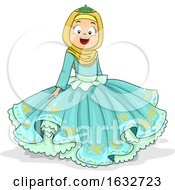 Kid Girl Muslim Princess Illustration