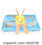 Poster, Art Print Of Kids Hands Preschool Sun Weather Activity Tray