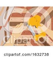 Poster, Art Print Of Hands Lath Art Illustration