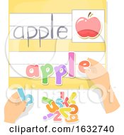 Poster, Art Print Of Hands Preschool Movable Letters Activity