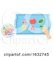Poster, Art Print Of Hand Preschool Pre Reading Activity Illustration