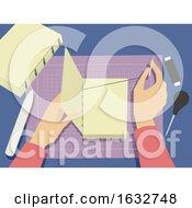 Poster, Art Print Of Hands Book Binding Illustration
