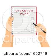 Poster, Art Print Of Hands Check Disaster Plan Illustration