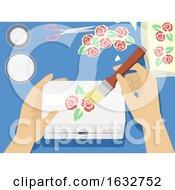 Poster, Art Print Of Hands Decoupage Illustration
