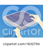 Poster, Art Print Of Hands Hurricane Preparedness Solar Panel