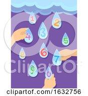 Poster, Art Print Of Hands Kids Preschool Rain Weather Numbers