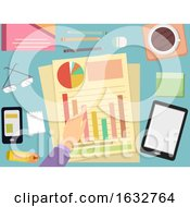 Poster, Art Print Of Hand Accounting Chart Illustration