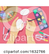 Poster, Art Print Of Hand Egg Decoration Illustration