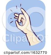Hand Kid Flicking Illustration