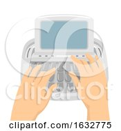 Hands Court Stenotype Machine Illustration