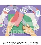 Poster, Art Print Of Hand Sock Puppets Illustration