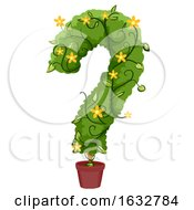Poster, Art Print Of Question Mark Vines Pot Illustration