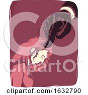Girl Intimidated Hand Illustration