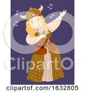 Girl Viking Girl Opera Singer Illustration