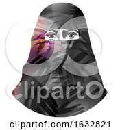 Girl Muslim Hijab Hands Illustration