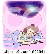 Girl Vivid Dreams Illustration