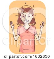 Girl Irritated Illustration
