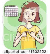 Girl Missed Period Illustration