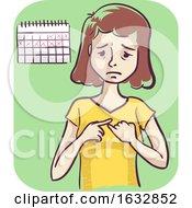 Girl Missed Period Illustration by BNP Design Studio