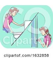 Girl Frequent Urination Illustration