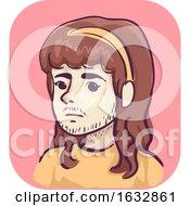Girl Facial Hair Symptom Illustration