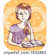 Girl Cant Concentrate Illustration