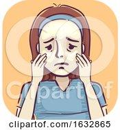 Girl Acne Oily Skin Illustration
