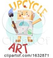 Poster, Art Print Of Mascot Upcycle Art Icon Illustration