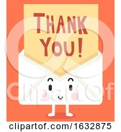 Mascot Letter Thank You Illustration