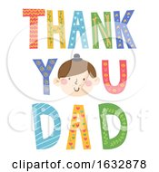 Thank You Dad Face Illustration