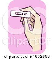 Hand Pregnancy Test Negative Illustration